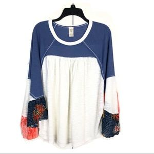WE THE FREE BAT WING COLOR BLOCK TOP SIZE LARGE